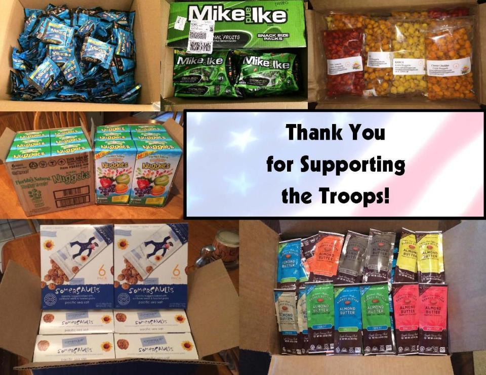 Donated Products for Squadron 283's Platoon
